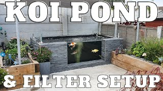 Koi Pond & Filter Setup - DIY Build (Eazy Pod)