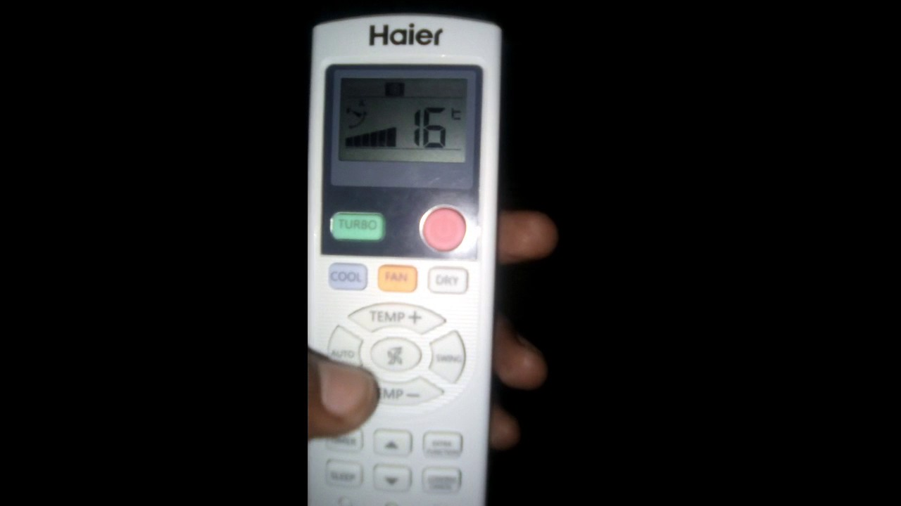 Haier Ac Remote Controller Functions Youtube