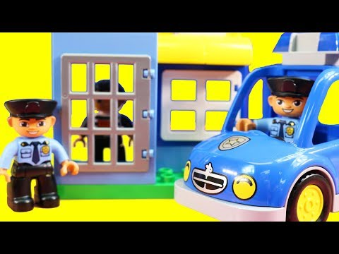 Lego Duplo My First Police Set And Police Patrol Set + Duplo Jail And Bank Toy Review