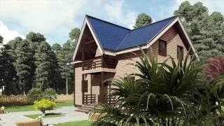 видео Дом из бруса 7х9 с кукушками
