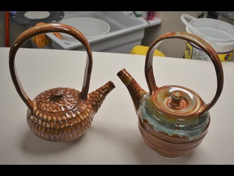 How to throw and trim a teapot, two types of lids, and a spout with assembly on the potter's wheel
