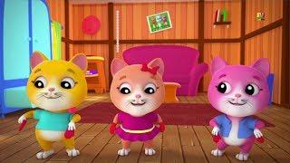 Ba chú mèo con nhỏ | 3d vườn ươm vần | bài hát mèo ở Việt Nam | Cat Rhymes | Three Little Kittens