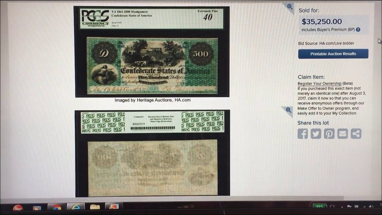 RARE NOTE SELLS FOR $35,250!! RARE PAPER MONEY TO LOOK FOR!