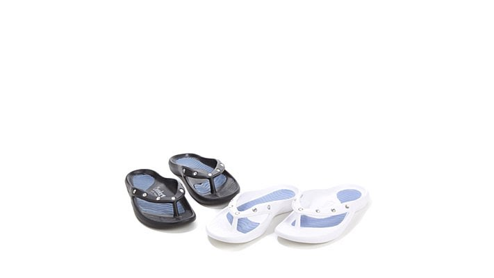 42d68df62 Tony Little Cheeks Healthy Lifestyle Sandal 2Pair - YouTube