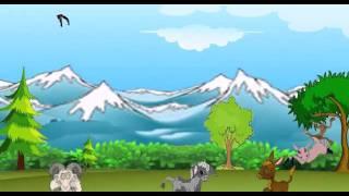 Dschungel-Cartoon-Film