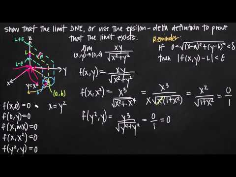 precise definition of the limit for multivariable functions (KristaKingMath)