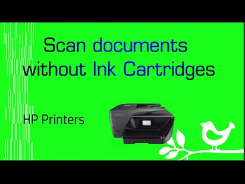HP Officejet Pro 8730   8710   7740   6960   6975 : Scan a document without Ink Cartridges installed