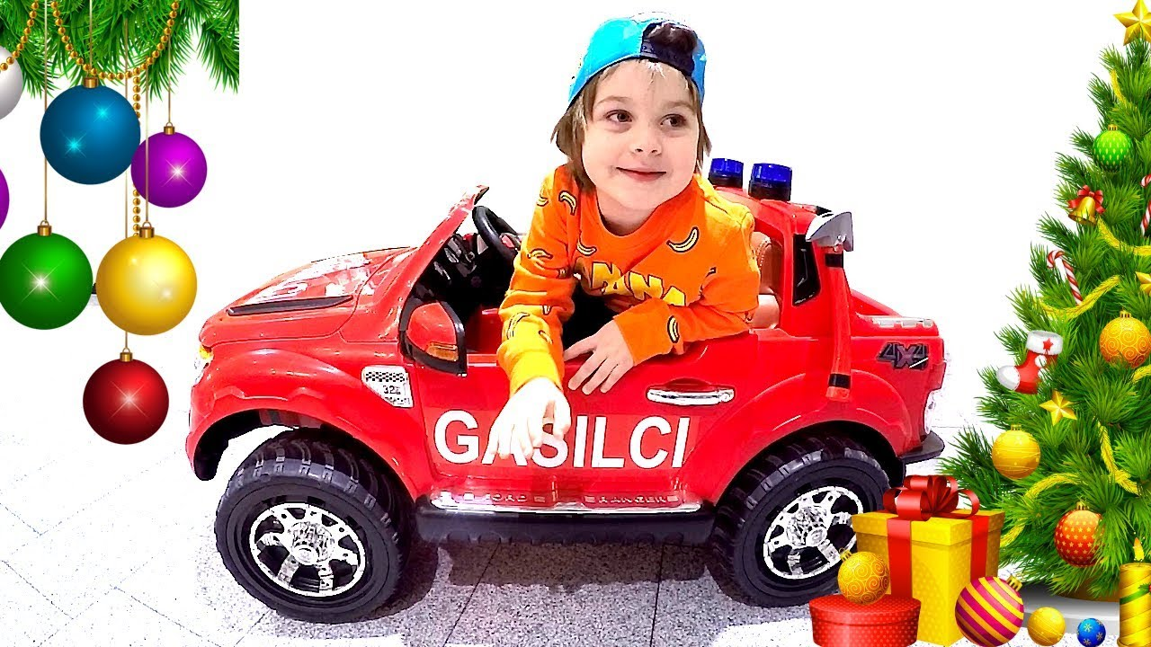 kids ride on hot wheels fire truck battery powered car at indoor playground play games fun. Black Bedroom Furniture Sets. Home Design Ideas