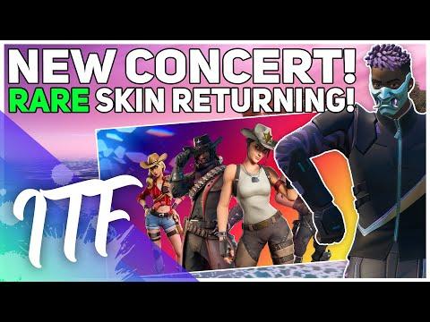 NEW Concert, RARE Skin Returning, TONS Of News! (Fortnite Battle Royale)