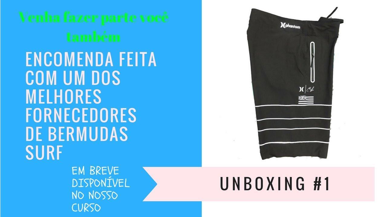 45b0bca96 Como comprar roupas importadas para revender (Bermudas SURF Unboxing ...