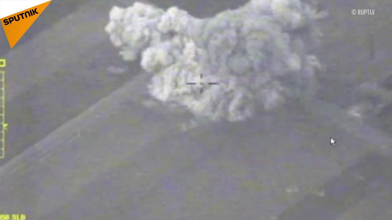 Rus Hava Uzay Kuvvetlerinin İdlibdeki hedeflere saldırısının videosu yayınlandı 51