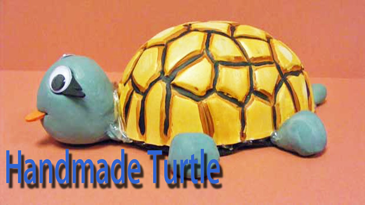 Hand made turtle best from waste material hand for Model best out of waste