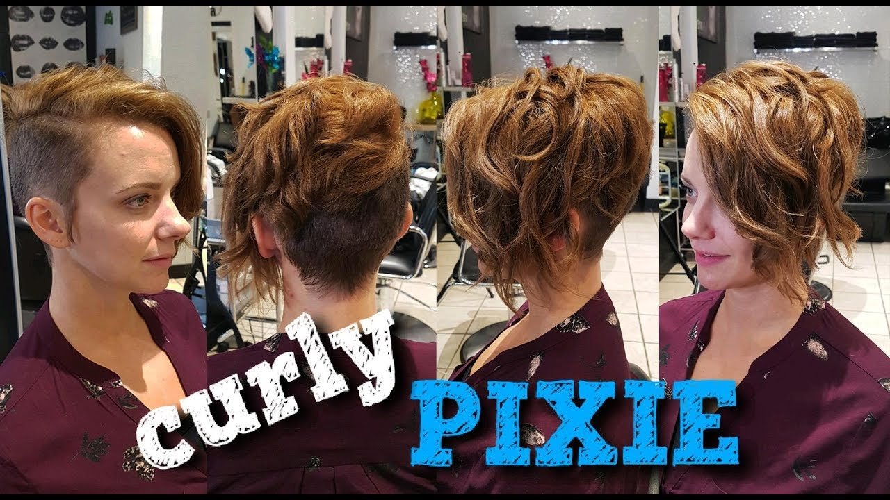 how to do a CURLY PIXIE cut
