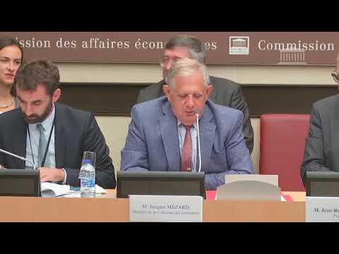 Olivier Gaillard, audition de Jacques Mézard, ministre de la cohésion des territoires