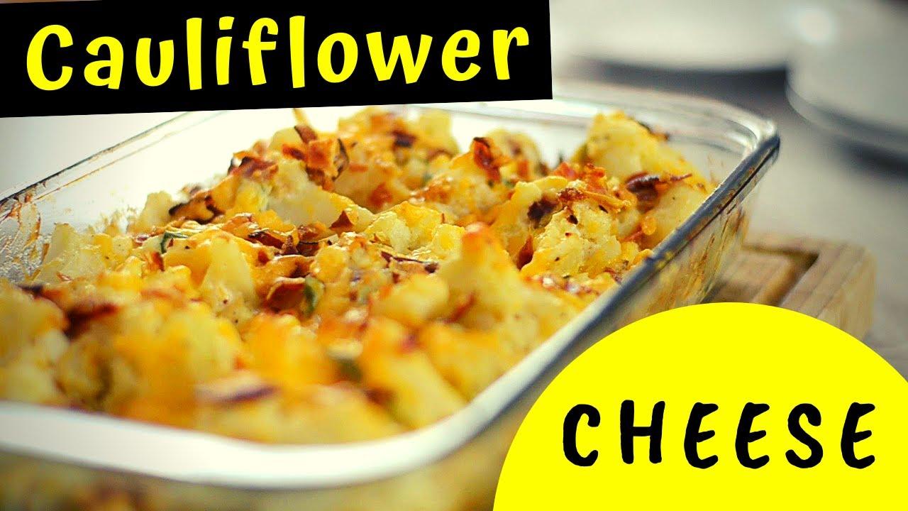 Cheesy Cauliflower Casserole with Bacon