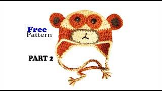Free Crochet Pattern Monkey Hat, Baby Beanie part 2