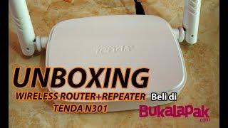 Download Video UNBOXING WIRELESS ROUTER+REPEATER TENDA N301 - BELI DI BUKALAPAK MP3 3GP MP4