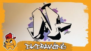 Graffiti Alphabet Tutorial - How to draw graffiti letters - Letter N