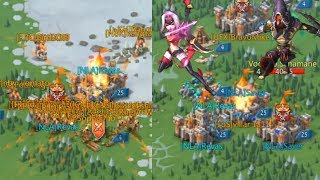 Lords Mobile Revas & Saver vs online and anti Player (Big hits)