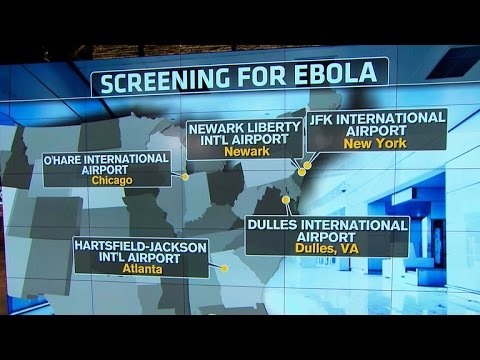 Five U.S. airports begin screening for Ebola among travelers from West Africa