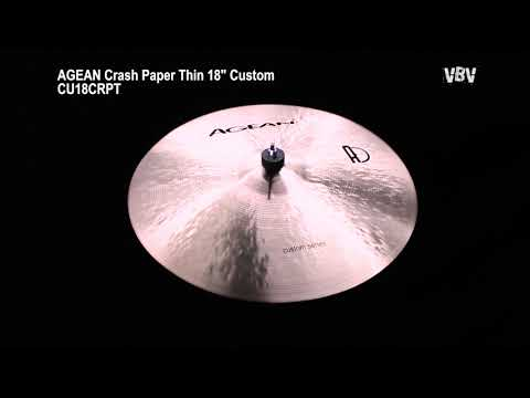 "18"" Crash Paper Thin Custom Video"