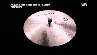"18"" Crash Paper Thin Custom Video"