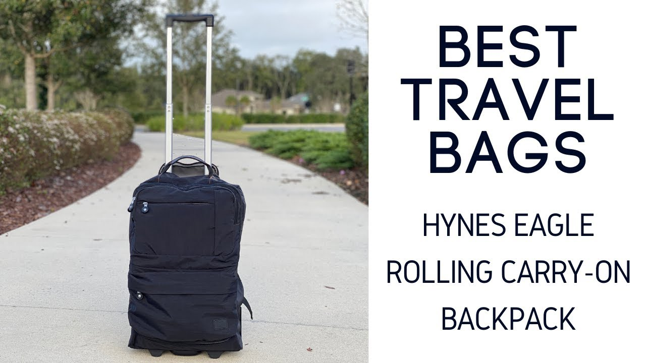 Hynes Eagle Rolling Travel Bag Review 35l Hybrid Travel Backpack And Rolling Suitcase Youtube