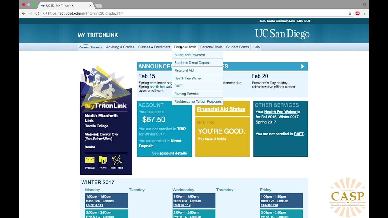 Tritonlink GPA Calculator Tutorial | UC San Diego - YouTube