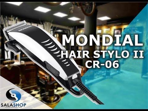 376b504e3 Unboxing Apresentação Máquina de Cortar Cabelo Mondial Hair Stylo II CR-06