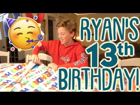 Ryan's Birthday Presents! What Does a 13 Year Old Get For His Birthday?!? thumbnail