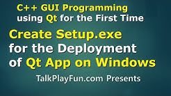 Qt#08 - How to Create Setup.exe for the Deployment of Qt Application on Windows (Installer)