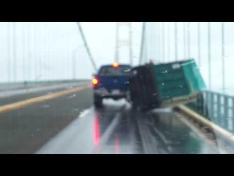 Mackinaw Bridge Trailer Blowover