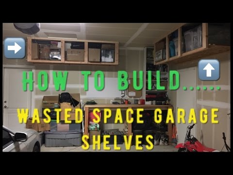Wasted space garage shelves!!