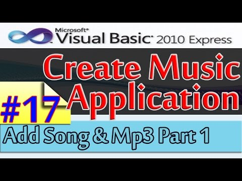 Create Music Application, 17, Add Song and Mp3 File Part 1, Database and Visual Basic 2010