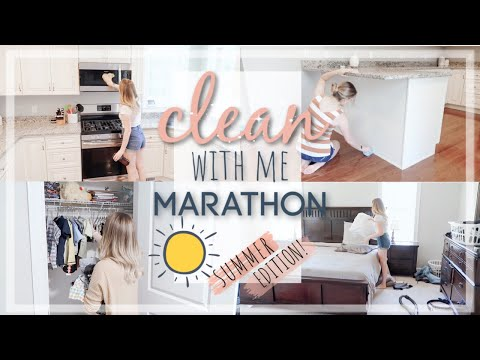 SUMMER CLEAN WITH ME 2019 MARATHON / ULTIMATE CLEANING MOTIVATION / OVER 1.5 HOURS OF CLEANING