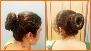 classic donut bun tutorial quick dance hairstyles for curly hairs