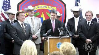 Gov. Perry Presents Honorary Texas Ranger Designations to Chuck Norris and Aaron Norris