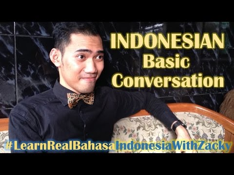 Basic conversation in Indonesian - Learn Real Bahasa Indonesia #24