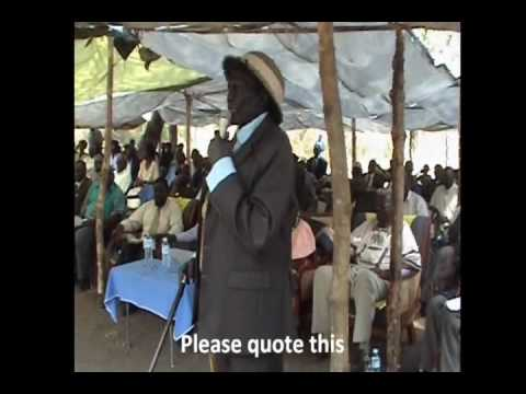 Anecdote of Yei River County Narrated to CES Ministers part 2