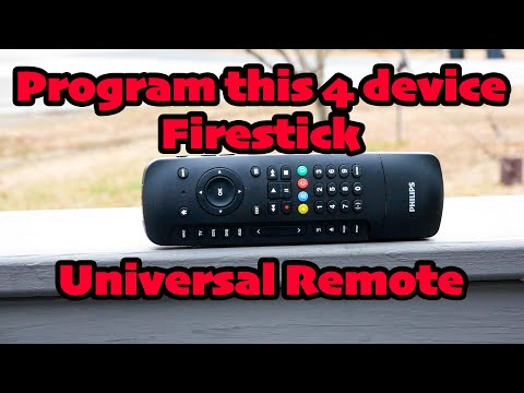 Setup And Program This Phillips 4 Device Fire TV Remote To ANY Device!