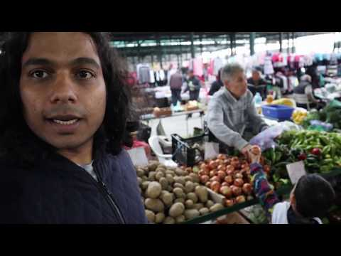 An Indian in North Macedonia- Visiting a village market in a Balkan Village.
