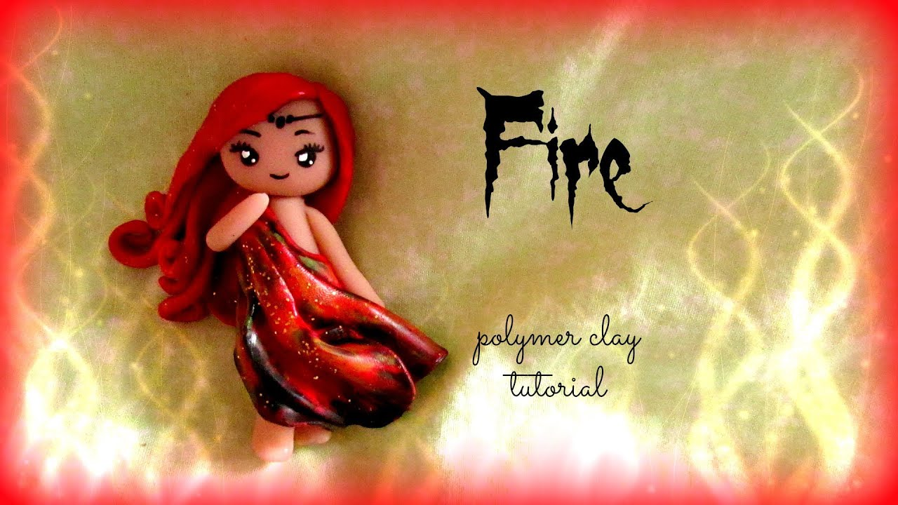 4 elements fire polymer clay tutorial doll chibi youtube baditri Images