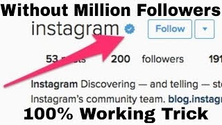 How To Get Blue Tick On Instagram By Tech With Mayur ||100% Working Trick||