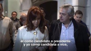 Cristina Kirchner anuncio que sera candidata a vicepresidenta de una formula con Alberto F ...