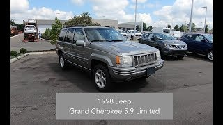 1998 Jeep Grand Cherokee 5 9 Limited 4X4|Walk Around Video|In Depth Review|Test Drive