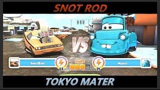 Disney Pixar Cars Fast as Lightning - Snotrod vs Tokyo Mater