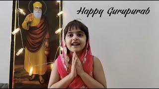 Happy Gurupurab Wishes & Guru Nanak Dev Ji's Updesh by Baby Inaya