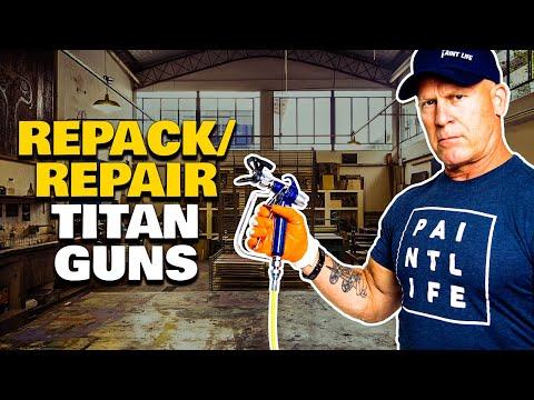 Repacking A Titan LX80 Airless Paint Gun  Airless Sprayer Hacks