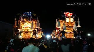 【 新居浜太鼓祭り】2018.10.17多喜浜駅後~天神浜花束贈呈