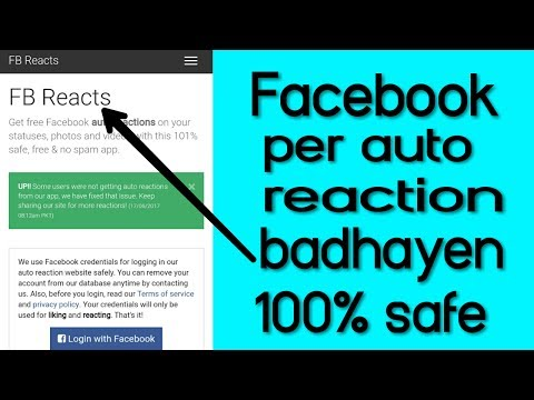 Get unlimited facebook auto reaction 1000% safe - YouTube